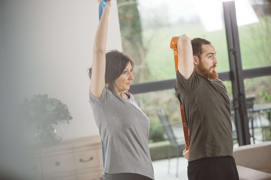 Tonification musculaire avec un elastiband